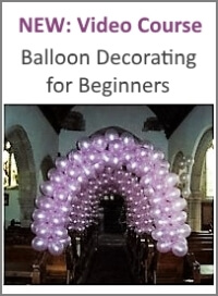 How do you make a shooting star column for Balloon decoration courses
