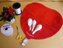 Valentine balloon bouquet materials