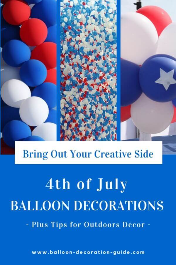 4th of July Decorations With Balloons