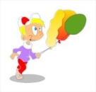 Boy with balloons - free clipart