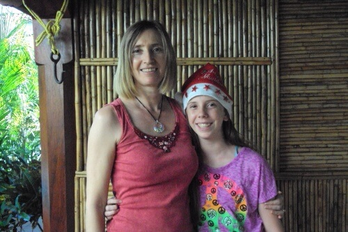 My Daughter and I During the Festive Season in León, Nicaragua