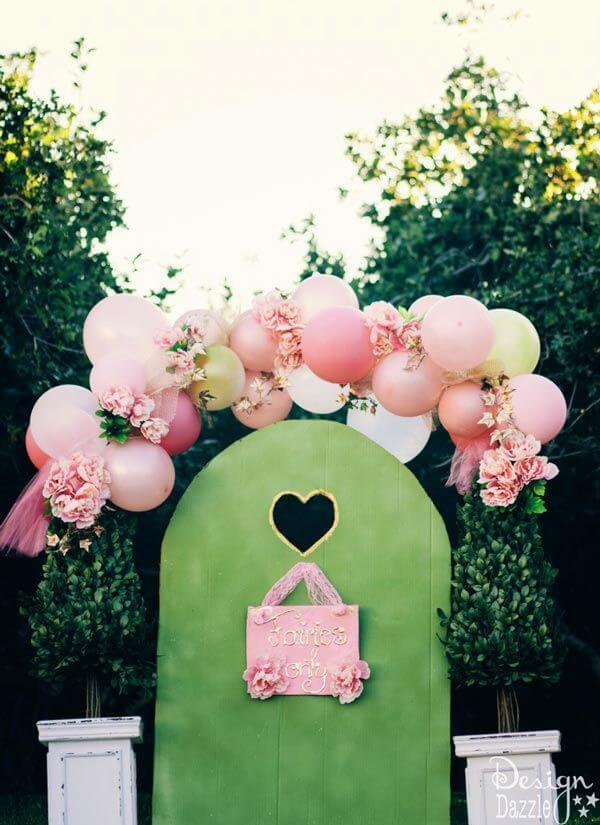 balloons and flowers fairy arch