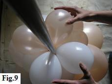 How to make a balloon column, step 9