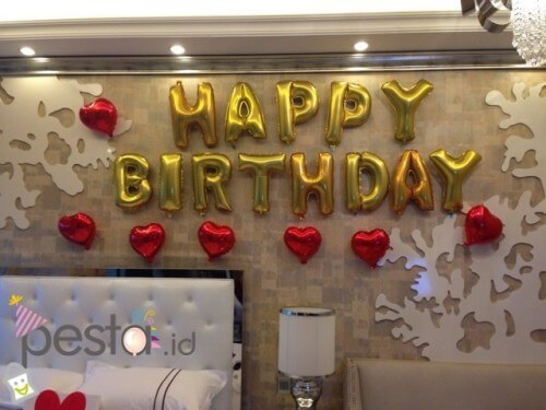 Balloon Letters Attached to a Wall