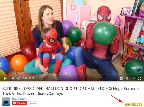 One of the Most Popular Balloon Popping Videos