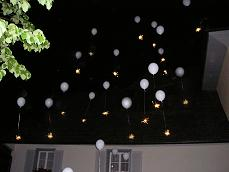 Beautiful Romantic Balloon Release at Night