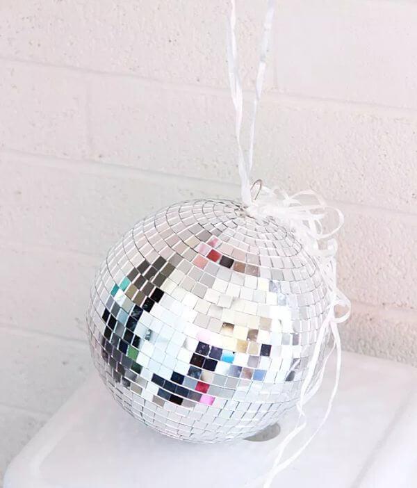 Disco ball used as balloon anchor