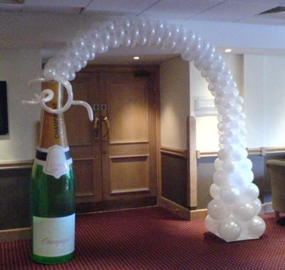 Champagne Botttle Arch