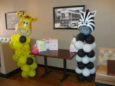 Baby pictures of the mother and father to be great idea for Balloon decoration guide