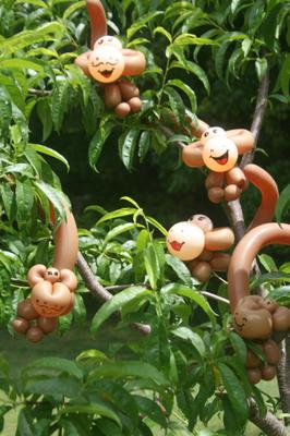 A Tree Full of Cheeky Balloon Monkeys