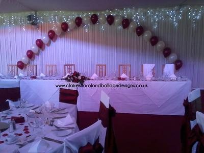 String-of-Pearls Balloon Arch - Perfect for the Wedding Head Table