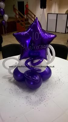 Balloon Centerpiece for an Anniversary