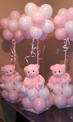 Baby Shower Balloon Centerpiece (found on Pinterest)