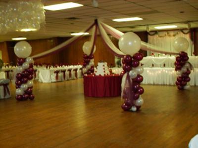 Dance floor canopy for Balloon dance floor decoration