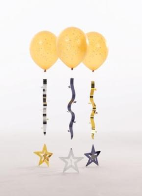 Gold Star Balloons with Garlands