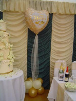 Balloon decor for top table