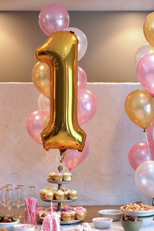 First Birthday Helium Balloons
