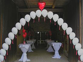 String-of-Pearls Balloon Arch