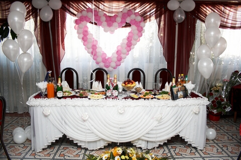 Head Table Decoration with Balloons