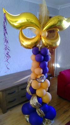 Balloon Column with Masquerade Mask