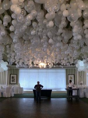 How Do I Hang Balloons Upside Down In Clusters At My Reception
