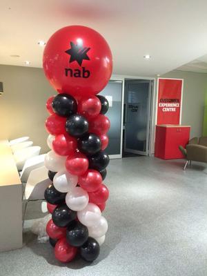 Spiral balloon column with 3 feet topper [Source: www.balloons.com.au]