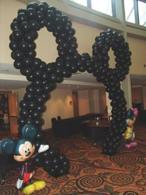 how to make a mickey mouse balloon arch