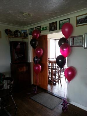 Photo 2: Balloon Cluster to Decorate an Entrance [Image Source: balloon-wizard.com]