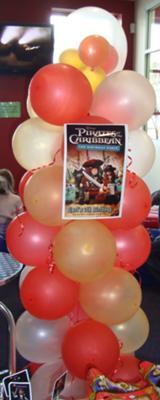 Balloon Column with Poster
