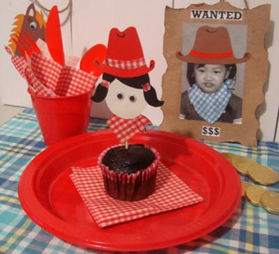 Table setting for cowgirl theme