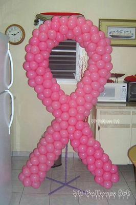 Cancer Ribbon Balloon Sculpture, Example 1