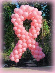 Cancer Ribbon Balloon Sculpture, Example 2