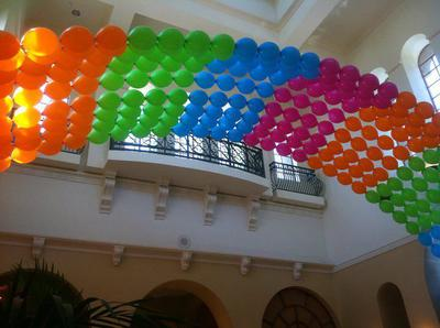 Large Floating Link-a-Loon Arch [Image source: www.baysideballoonsonline.com]