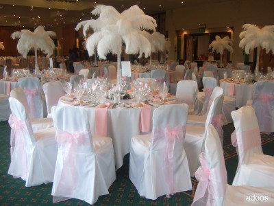 Ostrich Feather Centerpiece Manchester
