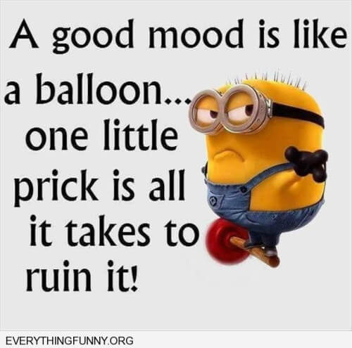 Minions Funny Balloon Quote