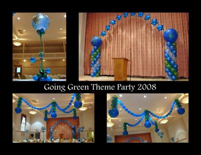 Going Green Theme Party With Balloons