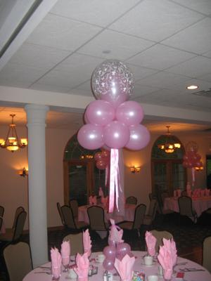 Centerpieces balloon decorating party favors ideas for Balloon decoration ideas for sweet 16
