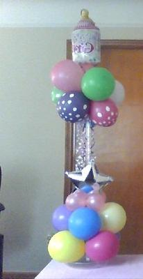 Pedestal Balloon Column for Baby Shower July 2012