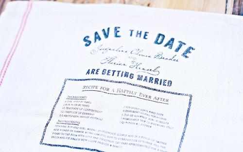 Save the Date Ideas: Tea Towel