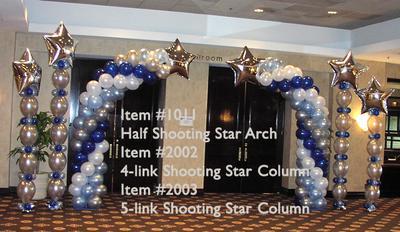 Shooting Star Balloon Arch