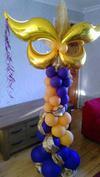 Balloon Column with Masquerade Mask