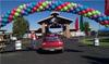 Outdoor Spiral Balloon Arch