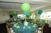 Balloon Centerpiece with Custom Printed Box as Base [Image source: mazelmoments.com]