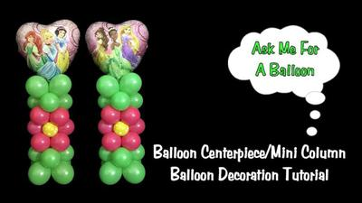 Mini Balloon Column as Table Centerpiece [Image source: Ask Me For A Balloon]