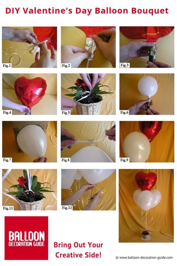 DIY Valentine Balloon Bouquet