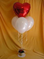 Finished Valentine's Balloon Bouquet.