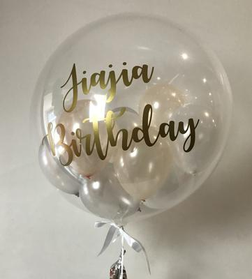 Deco Bubble with Vinyl Letters [Image found on Pinterest]