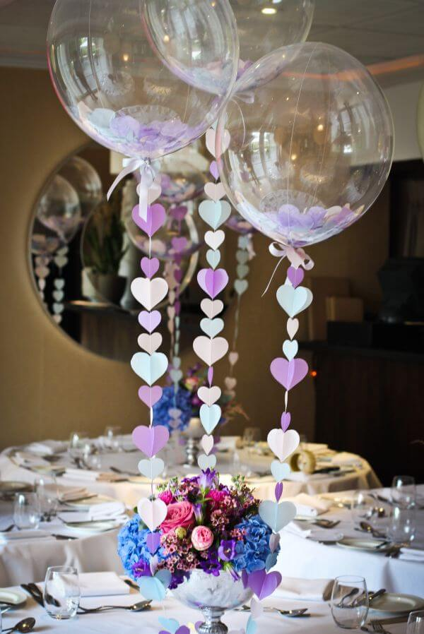 Balloon centerpieces add an elegant touch to any wedding.
