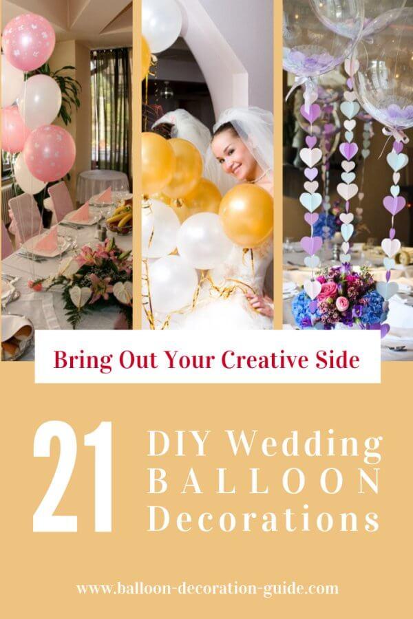 21 DIY wedding balloon decorations