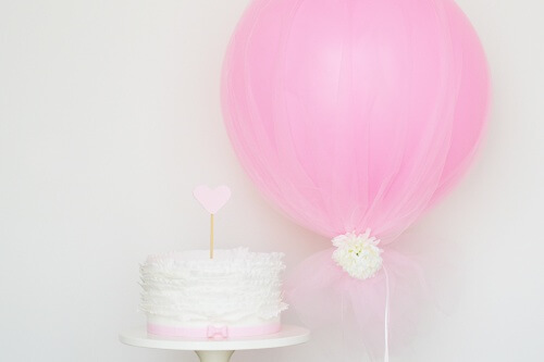 Beautiful Tulle Covered Balloon